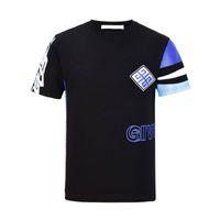 ingrosso magliette 3d europee stampate-T-shirt O-Collo uomo moda europea nuova moda KK T-shirt maglietta O-Collo uomo moda europea alta qualità T-shirt uomo casual manica lunga 100% cotone
