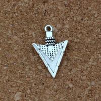 colar de seta diy venda por atacado-Arrow charme pingentes 100 pçs / lote liga de prata antigo moda jóias diy fit pulseiras colar brincos 15x22.8mm a-412