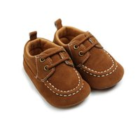 Wholesale baby moccasins for sale - Group buy Autumn Spring Baby Boy Shoes Newborn Boys Footwear Flock Leather Moccasins First Walkers Baby Shoes M