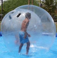 cremallera para bola de agua al por mayor-Envío gratis cremallera alemana 2 m 0.8 mm inflable Agua caminando Zorb Ball Bola de agua gigante Bola de hámster humano