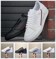 mavi beyaz antikalar toptan satış-2019 Antik Reklam Continental 80 Rascal Deri X Kanye West Rahat Ayakkabılar Beyaz Og Çekirdek Siyah Aero Mavi Gri Pembe Erkekler Moda Sneakers 36-45