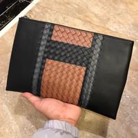 Wholesale laptop briefcase online - Luxury handbag Arrival Famous Business Men Briefcase Bag PU Leather Laptop Bag Briefcase Male Shoulder bags Men Clutch Bags
