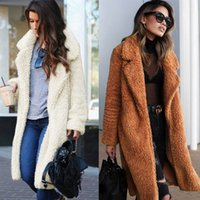 mejores blusas de moda al por mayor-Las explosiones más vendidas 2019 otoño e invierno moda solapa bolsillo blusa de manga larga abrigo largo F0146