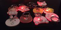 klammer blinkt großhandel-LED Calling Induction rot und blau blinkende Handy Ring Halterung Lazy Stent Handyhalter Crystal Acryl Auto Teil