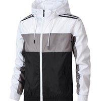 bahar ceketi erkek toptan satış-Bahar Marka Ceketler Erkekler Yeni Tasarımcı Spor Ceket Erkek Moda Rüzgarlık Spor Kapüşonlu Mont Erkek Sportwears L-4XL