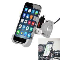 Wholesale waterproof phone holder for bike resale online - Universal QC USB Motorcycle Phone Mount with Charger Waterproof V Bike Mobile Phone Holder For GPS Bike Handlebar Holder car