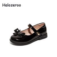meninas sapatos de couro genuíno escola venda por atacado-Nova primavera bebê meninas bow shoes crianças vermelho escola shoes kids marca couro genuíno moda princesa mary jane 2019