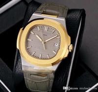 ingrosso orologi in pelle gialla-Nautilus Classic 5711J Quadrante D-Blue in oro giallo 18 carati 40mm A2813 Orologio da uomo automatico Orologio bicolore Pelle 12 colori P280g7.