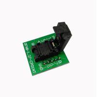 ingrosso burn socket-Freeshipping QFN8 DFN8 WSON8 6 * 8mm Presa di programmazione Pogo Pin Test Adapter QFN8-1.27-CPO1PNL Pin Pitch 1.27mm IC Burn in Socket