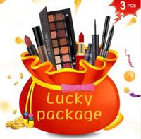 ingrosso doni fortunati borse-Lucky Bag Welfare Gift per la giornata delle donne Set completo di trucco professionale / Nail art Hot Sale Makeup Cosmetics Kit