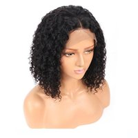 Wholesale brazilian short virgin curly wig for sale - Group buy Brazilian Hair wigss Curly For Black Women Short Bob Pre Plucked Human Virgin Short Bob Lace Front Curly Natural wigs With Baby Hair