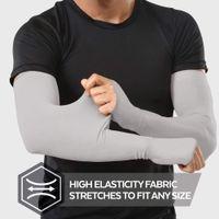tela de voleibol al por mayor-1 par de mangas de brazo de tela de hielo ultraligero Calentador Deportes de verano Protección UV Correr al aire libre Baloncesto Voleibol Ciclismo Hombres