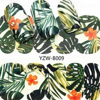 Wholesale hot woman nude art for sale - Group buy 2018 HOT Green Plant Fashion Women Nail Sticker Butterfly Flower Water Transfer Decal Sliders for Nail Art Decoration Tattoo TLY