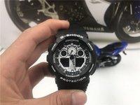 pulseira de couro para homens venda por atacado-GA-100 Mens Moda Faux Pulseira De Couro De Quartzo Analógico Pulseira Relógio de Pulso Masculino Relógio Militar Militar Relógio Relogio masculino