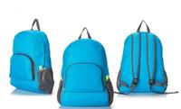 naylon su geçirmez katlanır çantalar toptan satış-Seyahat yürüyüş çantası su geçirmez naylon spor çantası sırt çantası fabrika doğrudan çok renkli Açık Çanta Taşınabilir açık katlanır sırt çantası