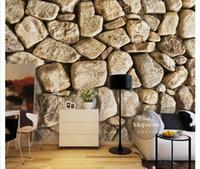 duvar için çince çıkartmaları toptan satış-3D duvar kağıdı özel fotoğraf ipek duvar duvar kağıdı Çin tarzı retro taş wall up basit moda yatak odası çalışma kanepe arka plan duvar sticker