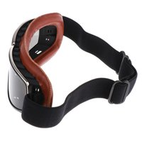 Wholesale goggles for open face helmet resale online - Motorcycle Vintage Goggles Anti Scratch Motorbike Sunglasses Eyewear Glasses for Half Open Face Helmets