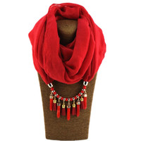 Wholesale korea scarf resale online - Jinjin QC New Fashion Cotton Ring Scarf Korea Pendant High Quality TR Cotton Jewelry Solid Color Scarf Drop Shipping