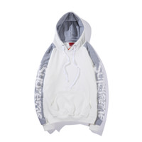 Wholesale men hoodies name brands resale online - 19ss new Suprême men designer hoodie simple fashion letter print hoodies classic brand name couple pullover street hip hop trend sweatshirt