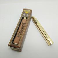 coups de poing américains en laiton achat en gros de-Batterie de stylo de Vape de Knuckles en laiton - 650mah 900mah batteries réglables en bois de tension de préchauffage d'or VV 510 variables