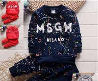 Wholesale spring autumn period clothing for sale – designer The spring and autumn period and the new years old baby autumn baby cartoon suit Cotton baby clothes casual suit