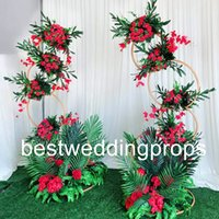 Wholesale white gold silver wedding decorations resale online - new product elegant Tall metal white candelabra centerpieces wedding gold silver candelabra event decoration best576