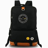 розовые спортивные рюкзаки оптовых-Темная сторона луны рюкзак Pink Floyd day pack Музыкальная группа школьная сумка Поклонники рюкзак для ноутбука Рюкзак Спортивная школьная сумка Открытый рюкзак