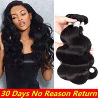 Wholesale new hair perm resale online - Fashion New Arrival Brazilian Mixed Length Bundles Brazilian Body Wave Hair Black quot quot quot Bundles Hair Wefts