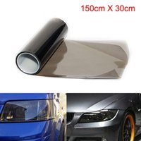 Wholesale black light headlights for sale - Group buy 30 X cm Dark Black Tinting Film Fog Tail Lights Headlights Tint Car Van Wrap Sheet Fog Light Rear Lamp Matt Smoke Film