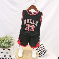 Wholesale pant s babies resale online - Child Boy Summer Clothes Children S Basketball Uniform Baby Boys Tracksuit Set Kids Boys Sports Clothes Set Vest Short Pants Outfit