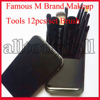 Wholesale tool m for sale - Group buy Famous M Brand Makeup Tools Makeup Brushes Set Kit Travel Beauty Professional Foundation eyeshadow Cosmetics Makeup Brush