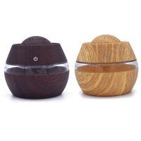 difusor de caña de aroma al por mayor-Conjuntos de difusor de láminas Humidificar USB Mini Ultrasonido Aire Aroma Difusor de aceites esenciales LED Humidificador 300 ml Nov2