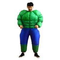neue aufblasbare frau großhandel-Coole männer hulk inflatables kostüm halloween kostüme für erwachsene fantasie superheld hulk cosplay aufblasbare kostüm für frauen neuankömmling