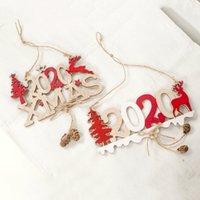 signos de navidad al por mayor-2020 Cartas de Navidad Elk árbol Muestra de madera Decoración de Navidad para el hogar colgante ornamento colgante nueva decoración de Navidad
