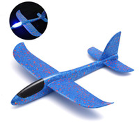 Wholesale glider airplanes kids for sale - Group buy New Luminous Foam Airplane EVA Hand Throw Outdoor Launch Glider Plane CM Interesting Inertia Airplane Toys For Kids Best Gift