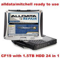 mitchell otomatik yazılım alldata toptan satış-Toughbook CF19 CF-19 Dizüstü 1.5 TB HDD WIN7 sistemi 24in1 Oto Tamir Alldata Yazılımı talep üzerine V10.53 + mitchell 5 kullanıma hazır