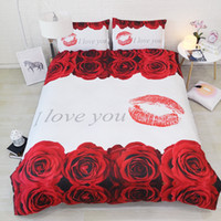 Kaufen Sie Im Großhandel Weiße Rote Rosen Bettwäsche 2019 Zum