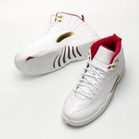 meilleure basket pour les hommes achat en gros de-2019 12s FIBA chaussures de basket-ball avec box 12s meilleure qualtiy sneaker trainer Shoes livraison gratuite
