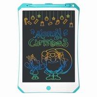 niños viejos pintando al por mayor-Niños LCD Graffiti Tableta de escritorio niños pila de botón Dibujo Pintura 3 años de edad en adelante Junta