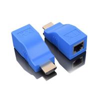 ingrosso contatore di segnale hd-Extender HDMI 30 metri di cavo di rete per trasmettitore di amplificazione del segnale di linea rj45 HDmi HD