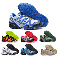 f5add0bea New Arrival Speedcross Solomon Speed Cross 3CS III zapatos hombre Sport Sneakers  Black White green red athletic New Running Shoes Size 40-46