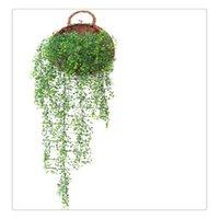ingrosso piante artificiali da giardino pendenti-Fake Plant Home Garden Decoration 115 CM Appeso a parete artificiale Vine Plant Natural Looking Foglie senza irrigazione