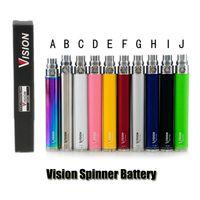 cig battery vv achat en gros de-La batterie de clope de la cigarette électronique VV de la tension électronique variable VV de la batterie Spinner de vision 650/900/1100 / 1300mAh de l'amour-propre pour l'atomiseur de fil d'amour