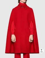 ropa de talla más al por mayor-S-5XL 2019 Nuevos hombres ropa Moda rojo sin mangas manto cappa suelta abrigo de lana otoño invierno abrigo más el tamaño de trajes de la etapa