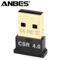csr usb venda por atacado-Anbes USB Adaptador Bluetooth V4.0 CSR Dual Mode Sem Fio Mini Dongle Bluetooth 4.0 Transmissor para Windows 10 8 7 Carro