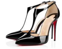 sandalias estilo encaje al por mayor-Nuevo estilo de verano de las mujeres con cordones de fondo rojo tacones altos punta estrecha vendaje Sandalias Tacón de aguja celebridad zapatos de las señoras bombas