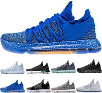 Wholesale kd shoes for men low cut for sale - Group buy 2018 KD EP Basketball Shoes for Top quality Correct Version Kevin Durant X kds s Rainbow Wolf Grey KD10 FMVP Sports Sneakers USA