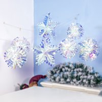 Wholesale blue laser party lights for sale - Group buy Colorful Reflected Light Laser Flower Star Christmas Ornament Christmas Tree Top Hanging Pendant Home Party Decor Accessories