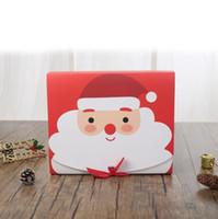 red party favor boxes venda por atacado-Caixa de presente de Natal Eve Big de Santa Projeto feericamente papercard Kraft Presente Party Favor Atividade Box Red Verde EEA684