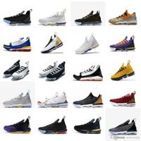 tenis basketbolu toptan satış-Womens lebron 16 basketbol ayakkabı Martin Remix Kırmızı Siyah Beyaz Bred SuperBron erkek kız gençlik çocuklar lebronlar xvi düşük sneakers ile tenis kutusu
